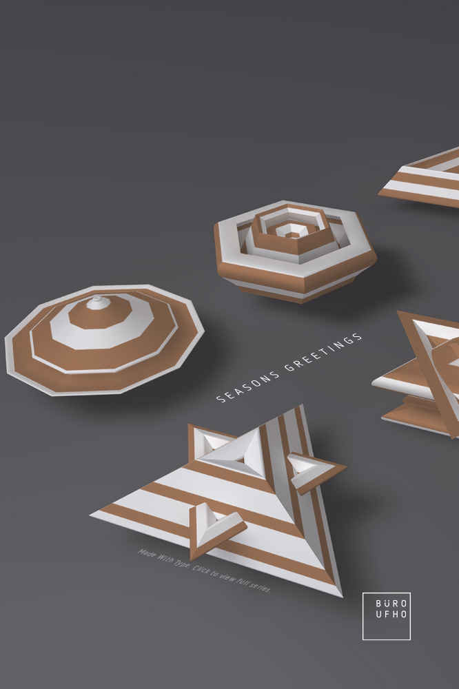 Typeflakes No.11 - Letters turned into 3D snowflakes visual.