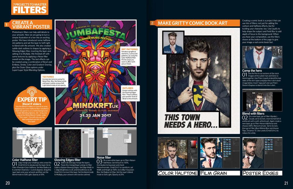 Photoshop Creative Magazine issue 148 spread.