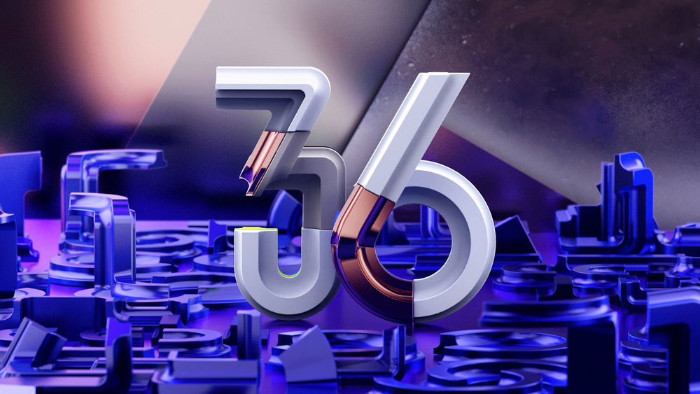 36 Days of Type 2017 - 3D numbers 36 visual.