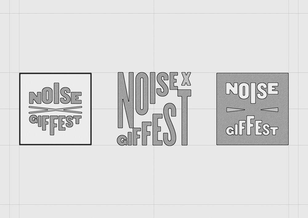 GIF Fest SG festival branding identity logo design idea explorations.