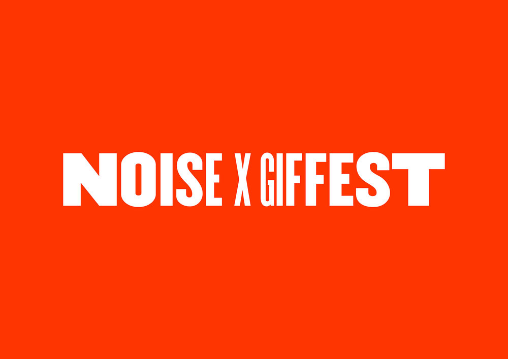 NOISE x GIF Fest festival branding identity static logo design by Singapore based brand strategy and creative design consultancy, BÜRO UFHO.