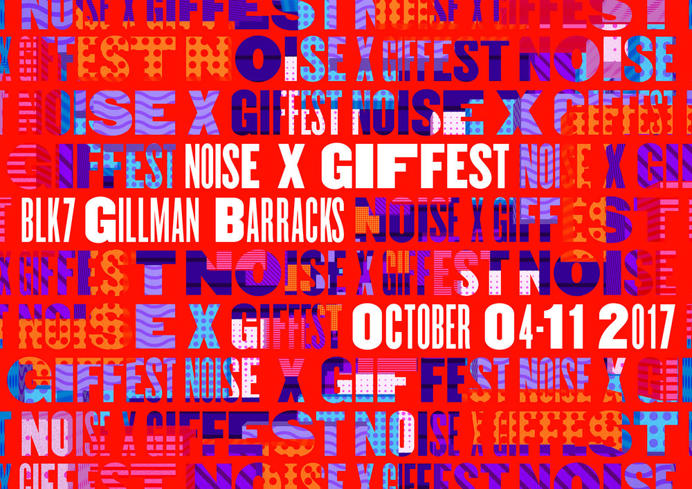 GIF Fest SG branding identity - Repeated type patterns graphic design exploration 2.