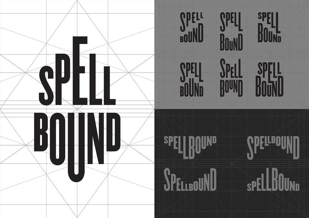 GIF Fest SG festival branding identity - Typographic SPELLBOUND logo design explorations.