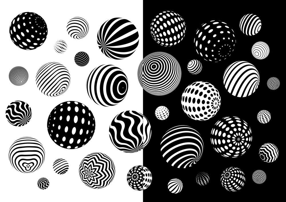 GIF Fest SG branding identity - Orb patterns graphic design variation.
