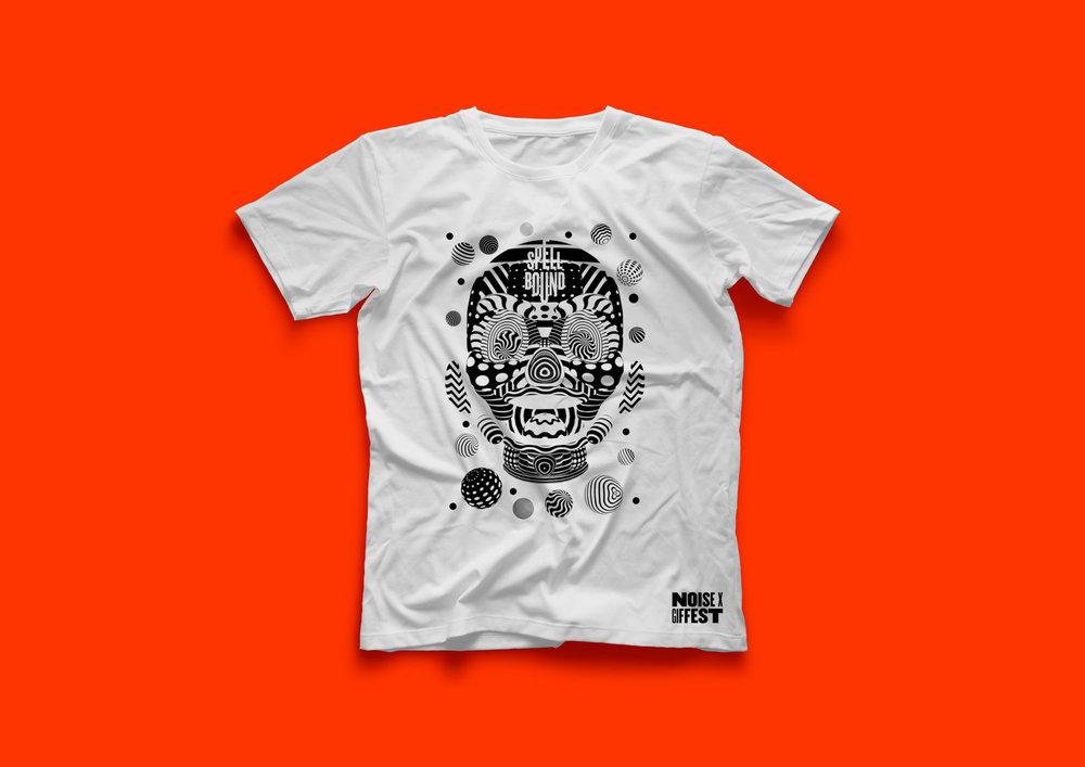 GIF Fest SG branding identity - GIF Fest graphic T-shirt design.