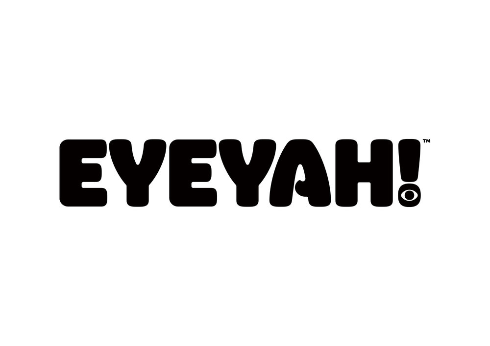 Identity design for Singapore based EYEYAH! magazine logo - Black on White.