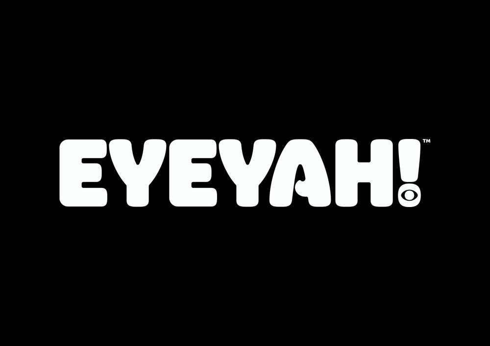 Identity design for Singapore based EYEYAH! magazine logo - White on Black.