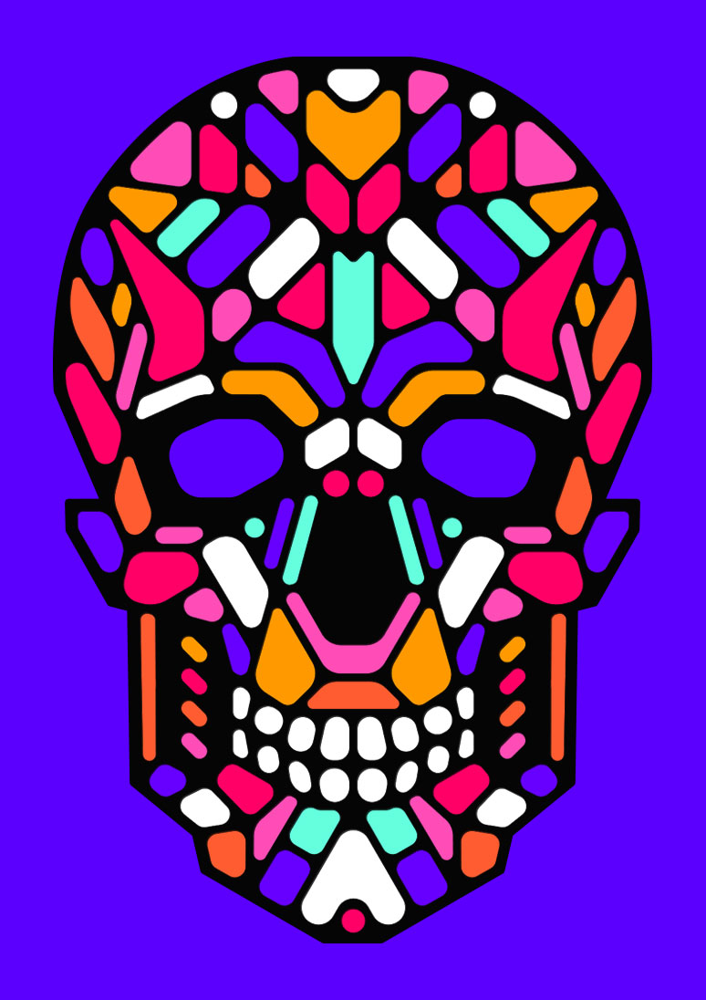 Kickstarter Cool LED light up mask Sugar Skull graphic design by Singapore based brand strategy and creative design consultancy, BÜRO UFHO.