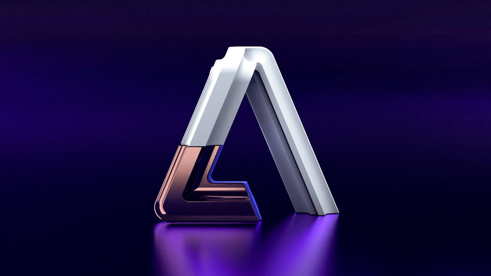 Adobe Ampersands - 3D Adobe Logo visual designs.