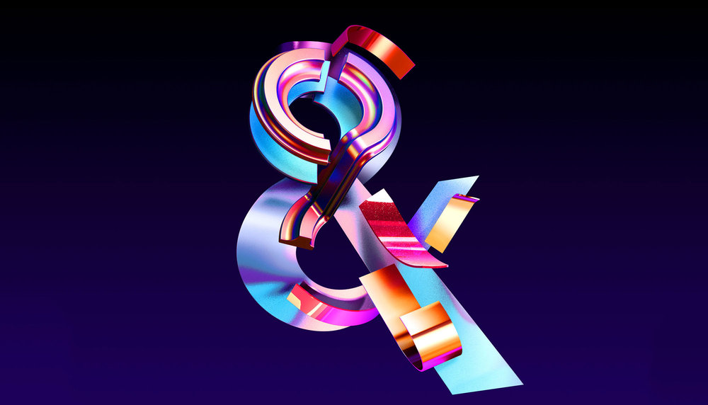 Adobe Ampersands - 3D ampersand lettering visual designs version 1.