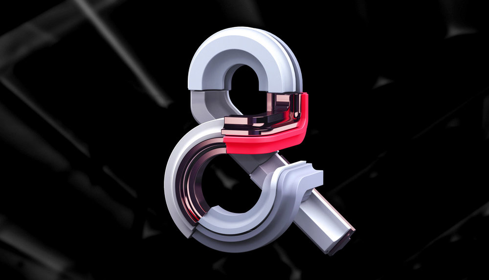 Adobe Ampersands - 3D ampersand lettering visual designs version 2.