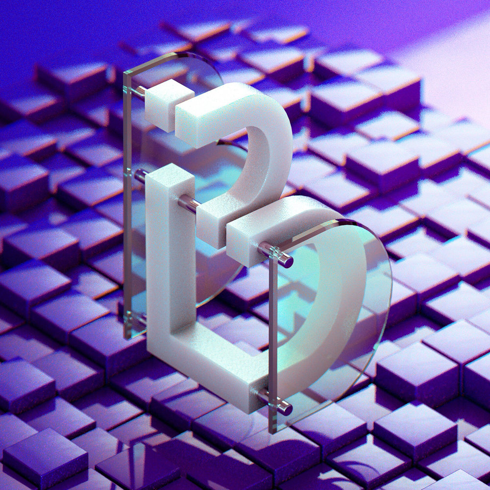 36 Days of Type 2018 - 3D letter B visual.