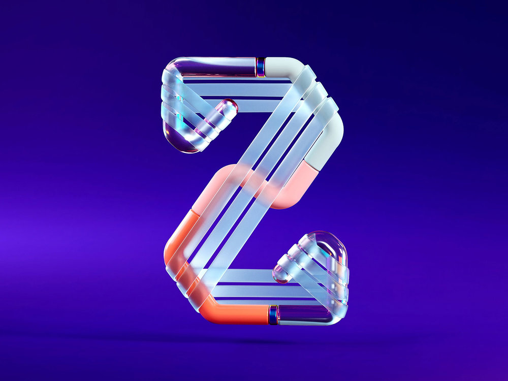 36 Days of Type 2018 - 3D letter Z visual.