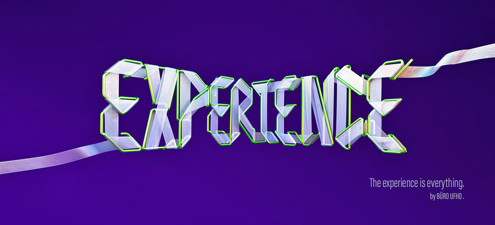 Adobe Experience - 3D typographic key visual version 2.