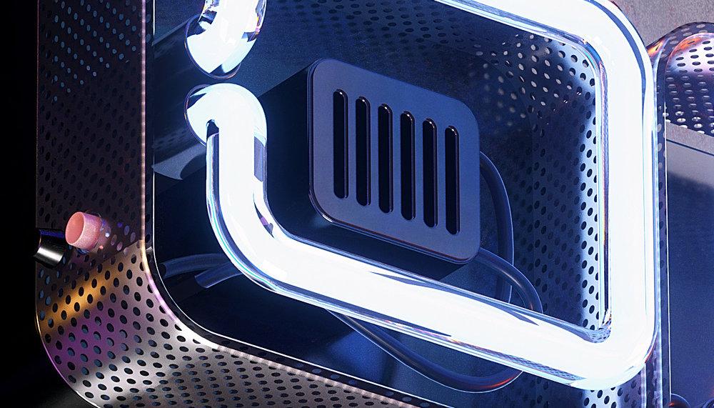 Neon Type - Detail closeup.