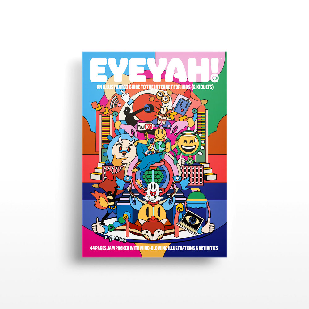 Identity design for EYEYAH! logo application on issue #1 of the magazine.