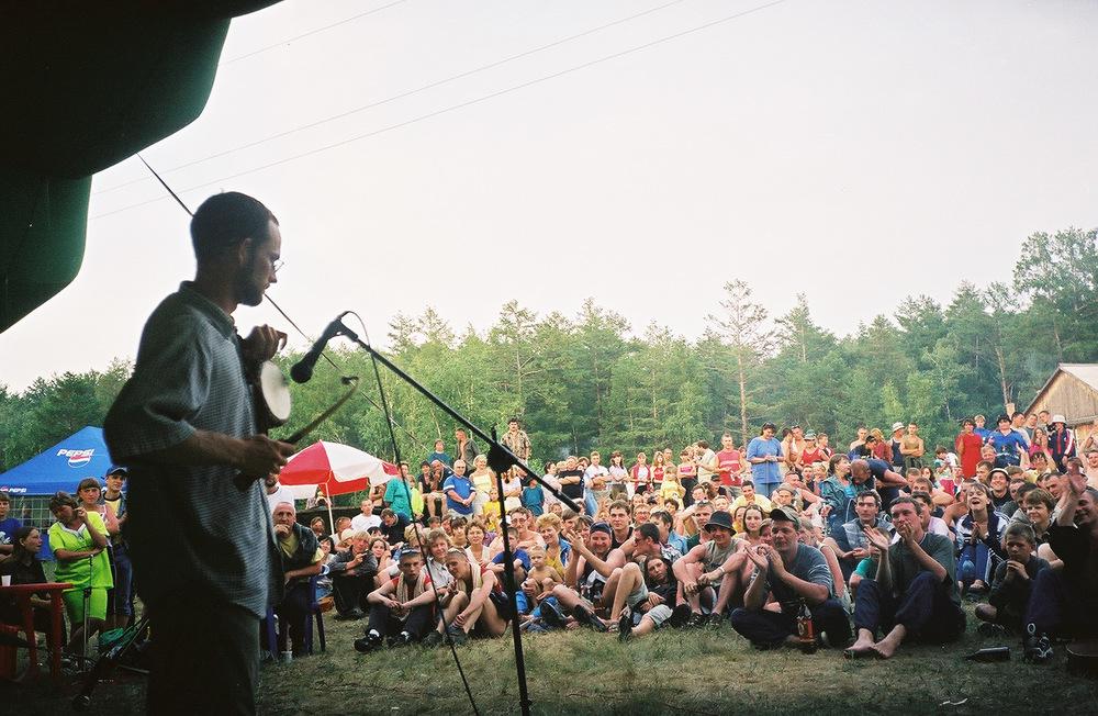 Performing near Chita, Siberia.