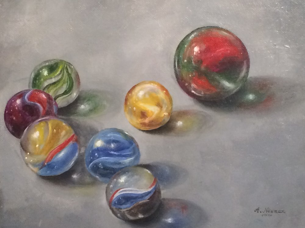 Hand-painted artwork by Arlene