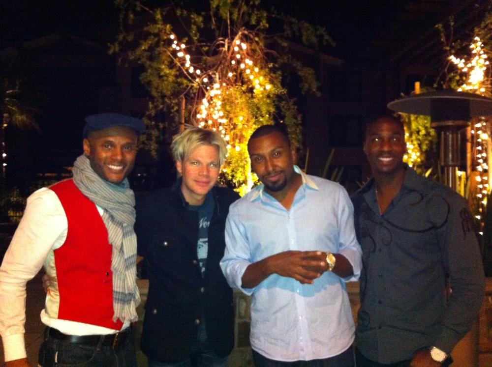 L-R: Kenny Lattimore, BC, Noel Gourdin & Eric Darius (from NVJG year 1)