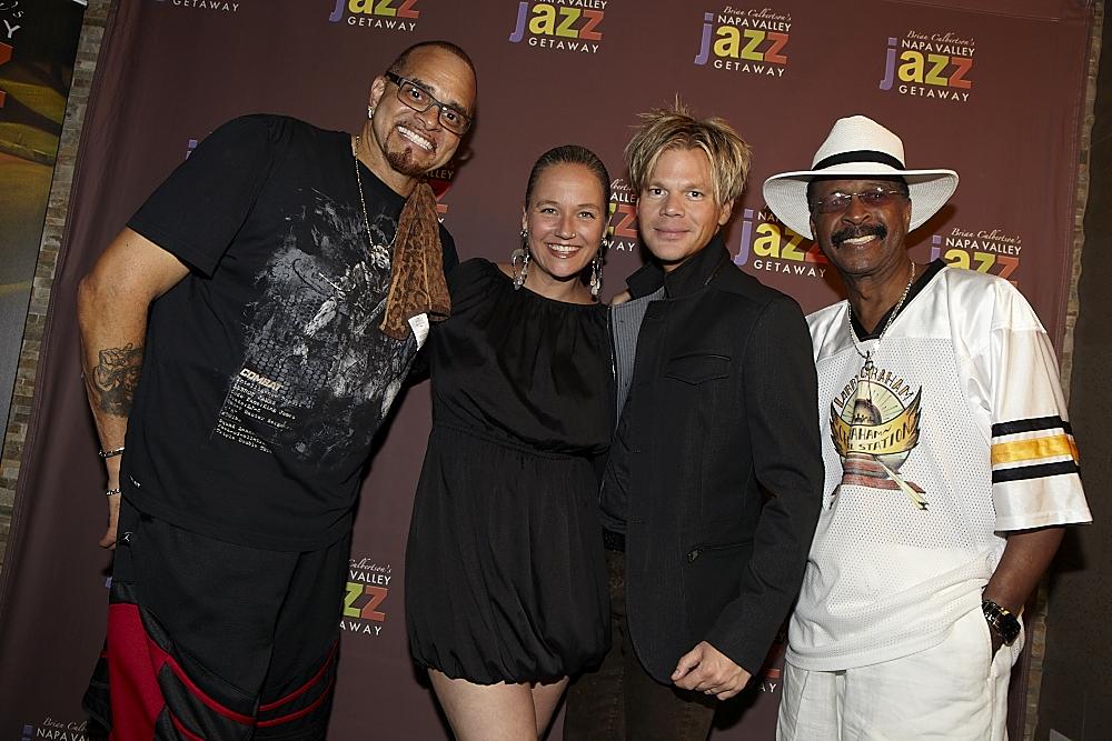 L-R: Sinbad, Sterling James, BC & Larry Graham (from nvjg2013)