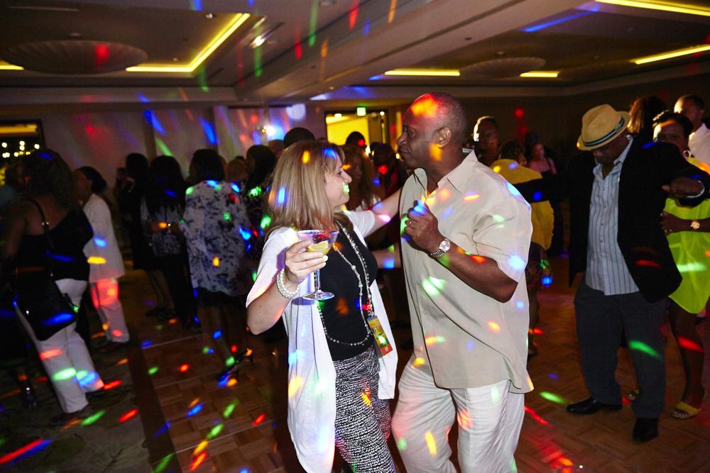 the dance floor in the ballroom