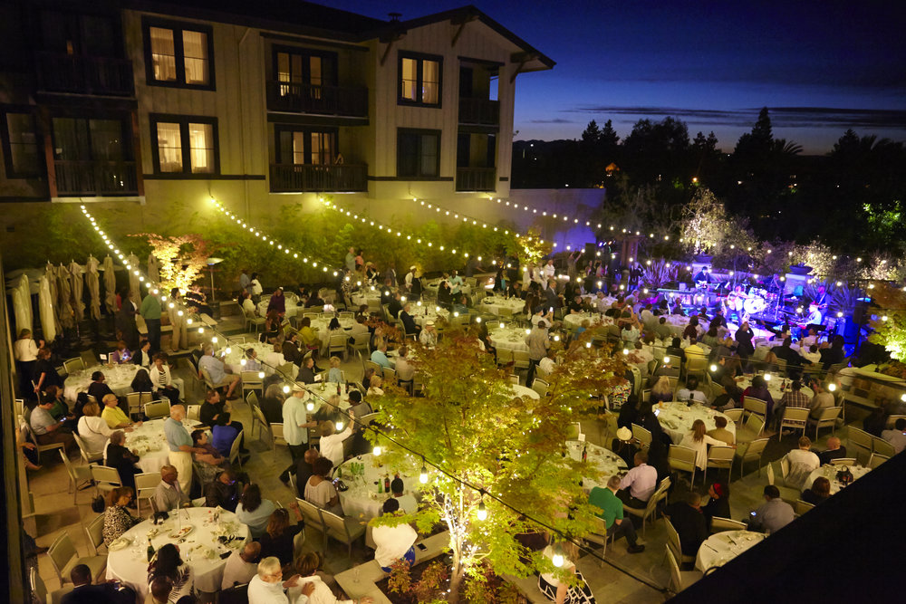 the solera courtyard at the westin during our 2016 welcome dinner.