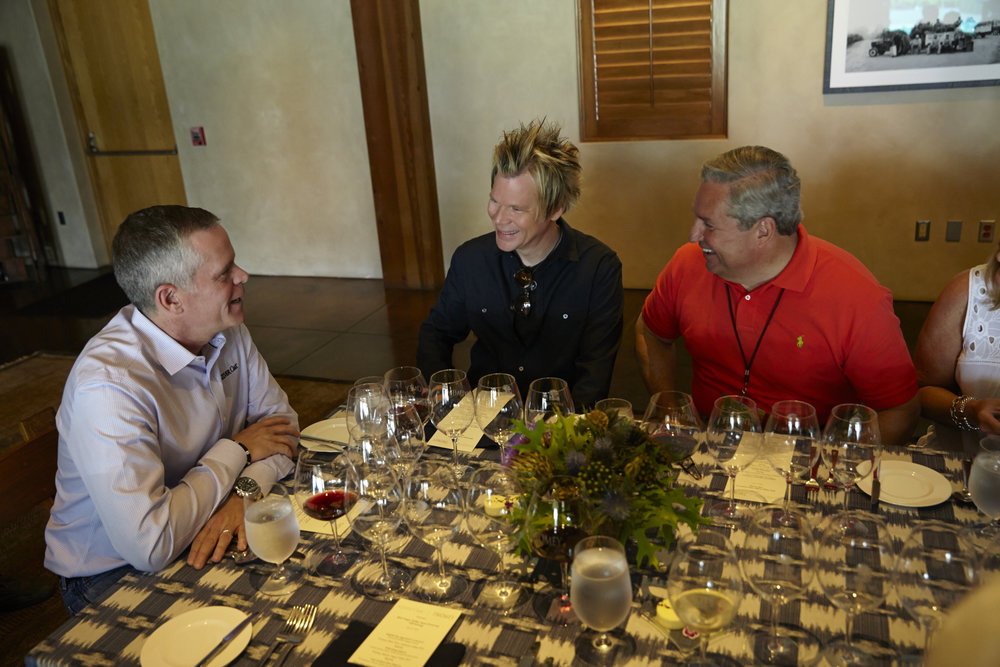 VIPs at a private luncheon at silver oak with ceo, david duncan