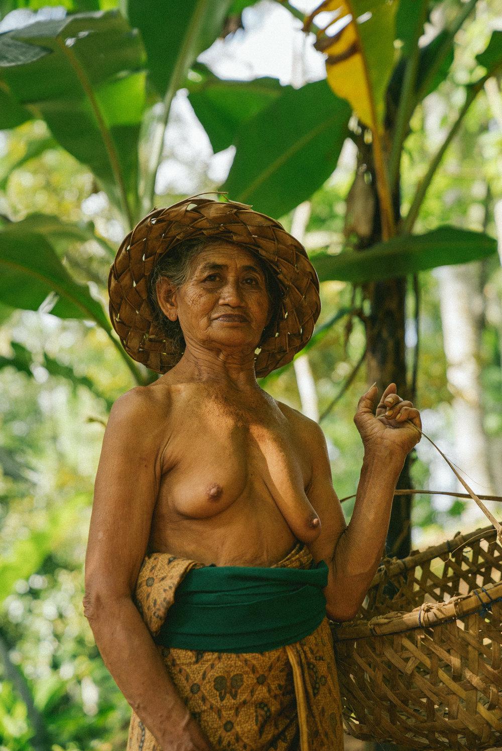 TEGALALANG: a senior rice paddy resident.