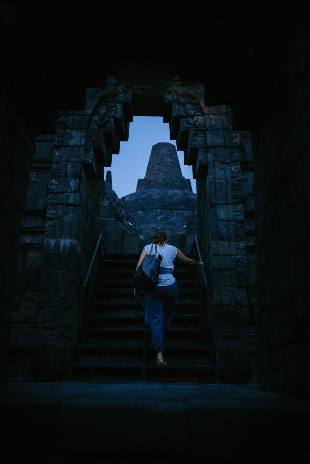 BOROBUDUR: ascending the steps.
