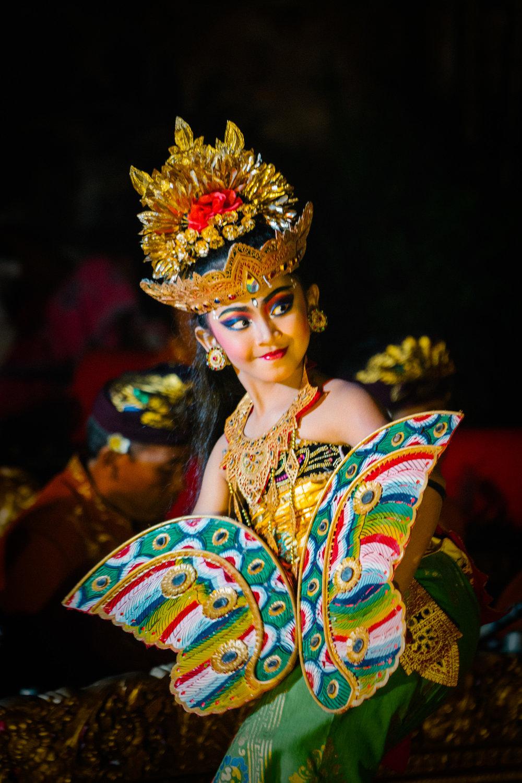 UBUD: a young Balinese dancer.