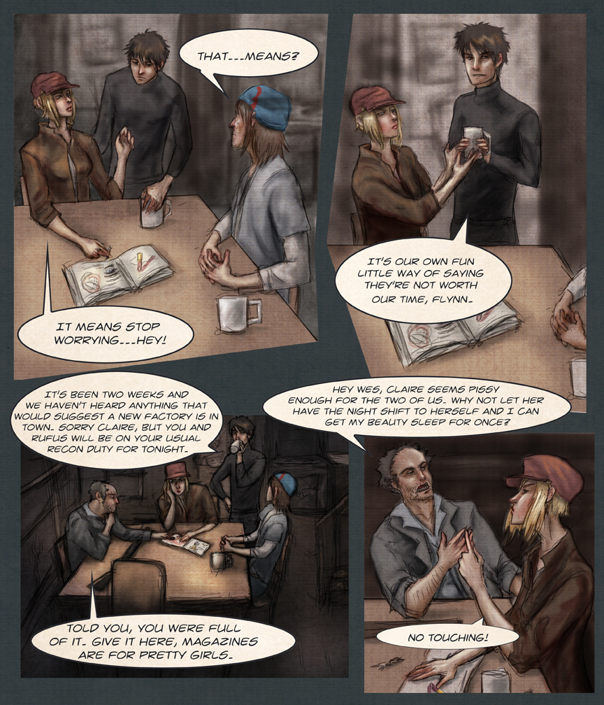After-comic Webcomic science fiction post apocalypse Chapter 1 page 1