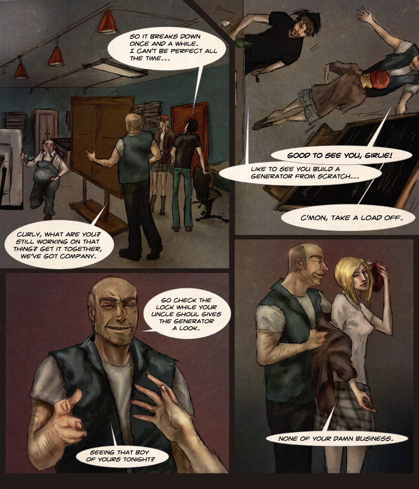 After-comic Webcomic comics webserries science fiction post apocalypse Chapter 1 page 8
