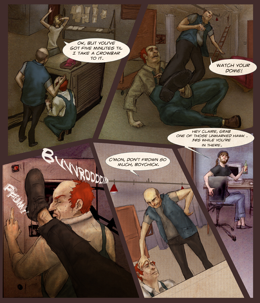 After-comic Webcomic comics webserries science fiction post apocalypse Chapter 1 page 10