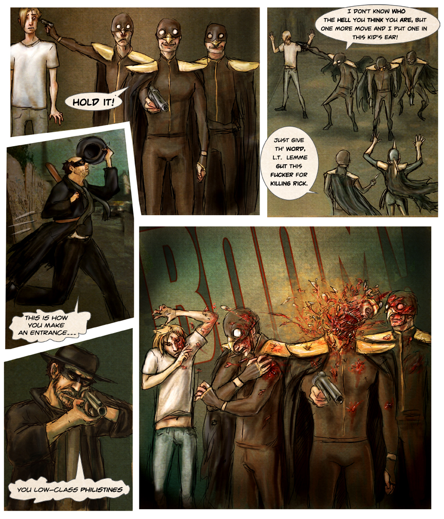 After-comic Webcomic comics webserries science fiction post apocalypse Chapter 1 page 24