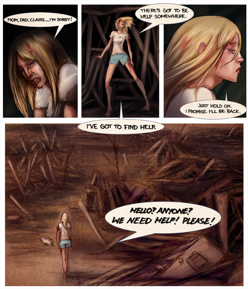 After-comic Webcomic comics webseries science fiction post apocalypse Chapter 2 page 13