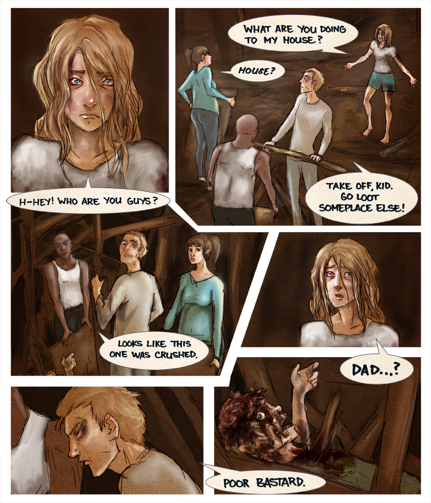After-comic Webcomic comics webseries science fiction post apocalypse Chapter 2 page 21