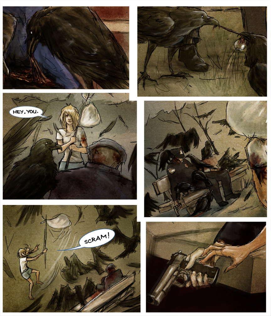 After-comic Webcomic comics webseries science fiction post apocalypse Chapter 2 page 29
