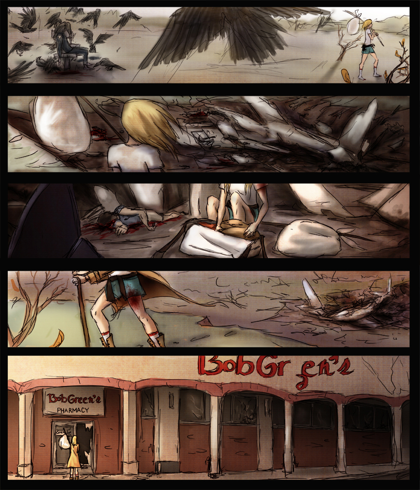 After-comic Webcomic comics webseries science fiction post apocalypse Chapter 2 page 31