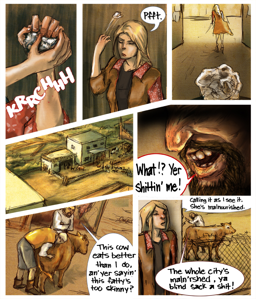 After-comic Webcomic comics webseries science fiction post apocalypse Chapter 3 Page 10