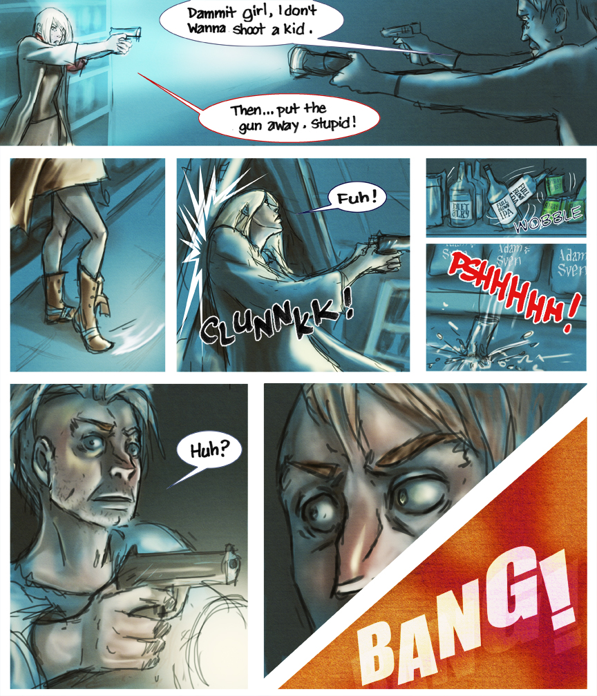 After-comic Webcomic comics webseries science fiction post apocalypse Chapter 3 Page 13