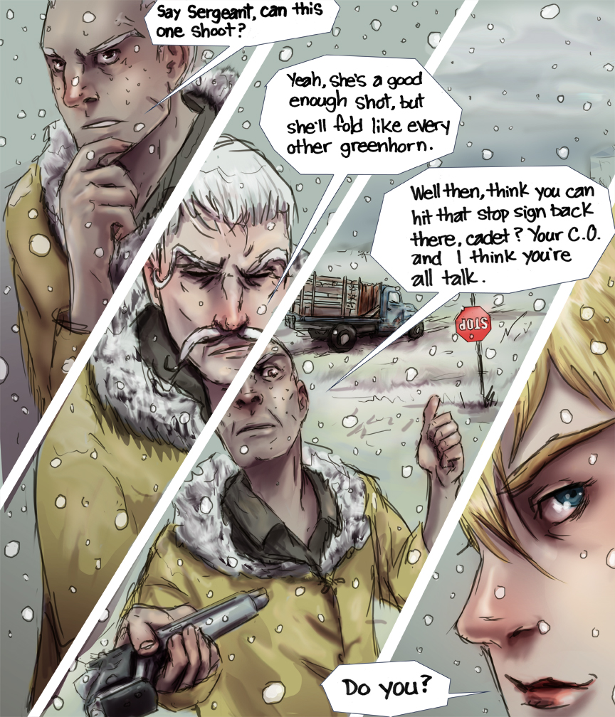After-comic Webcomic comics webseries science fiction post apocalypse Chapter 3 Page 39