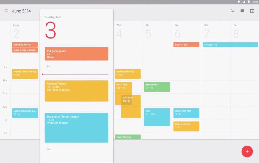 Calendar Design Material : Does google finally get it the material design update