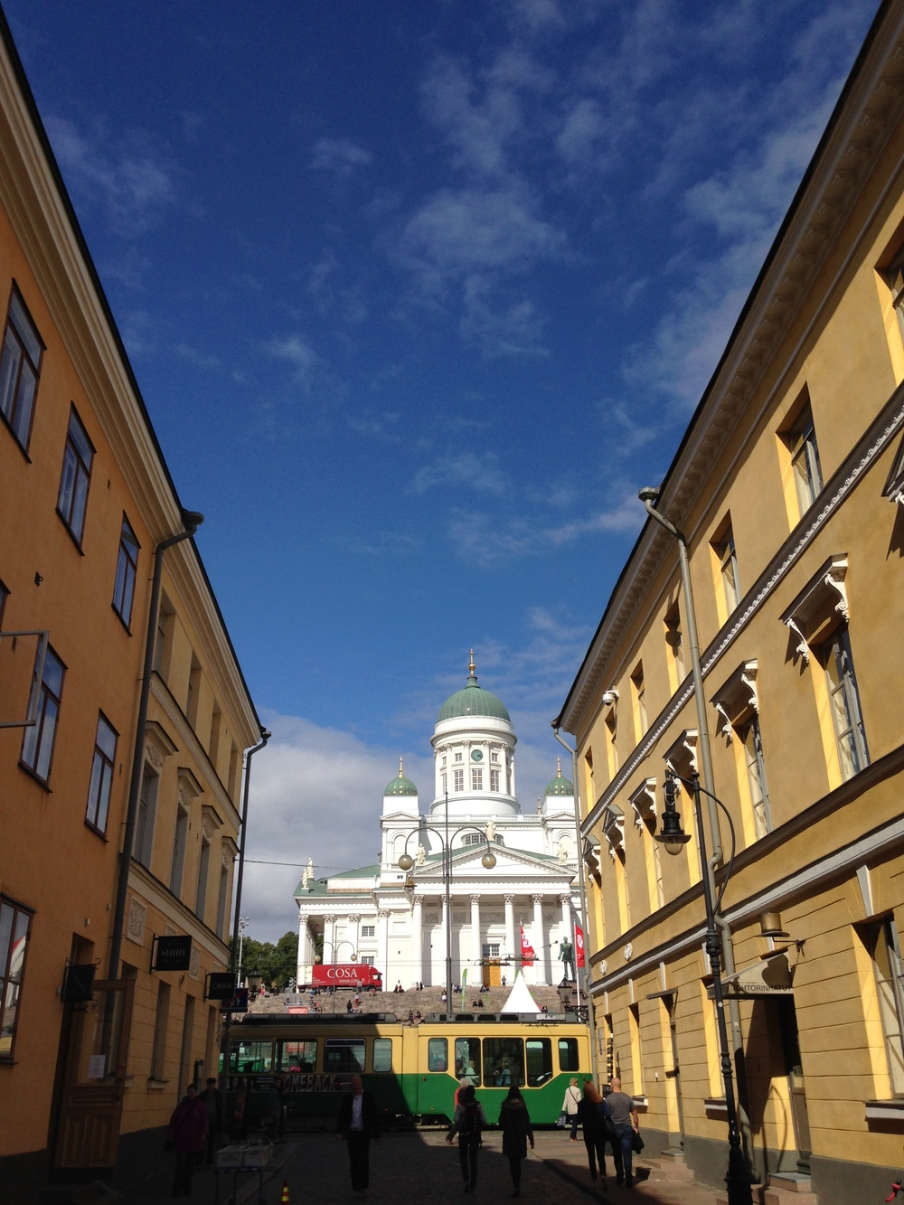 Alley leading to Helsinki Cathedral. All roads seemed to lead to the church.