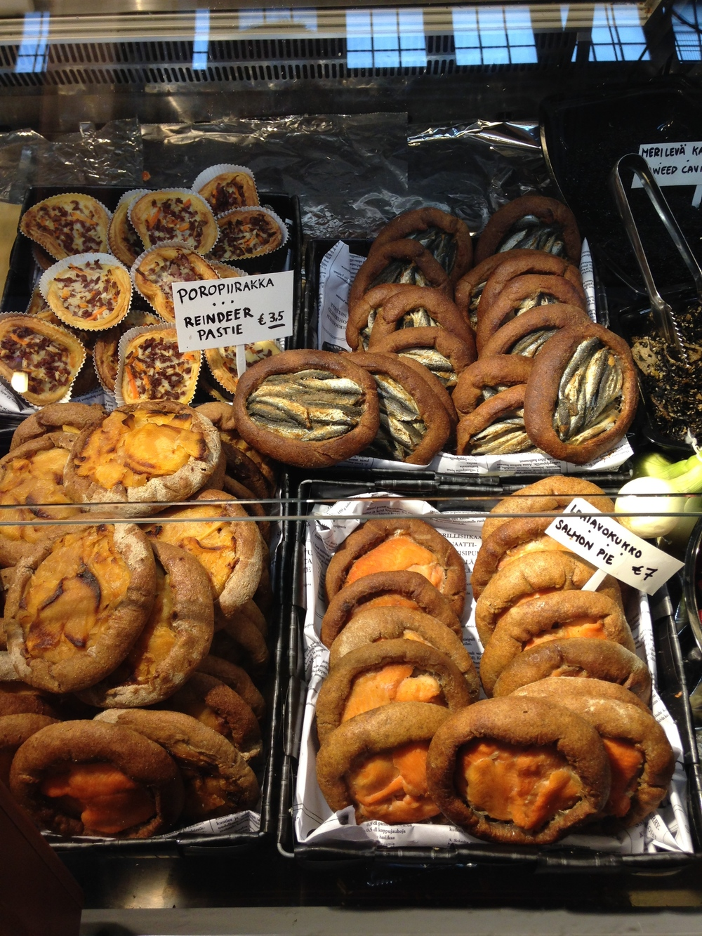These rye pastries were very popular and had a variety of fillings. Note the reindeer, a common meat option.