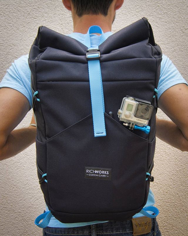 Richworks pack v2 with a lot of improvements from the first one. More pics after it gets delivered to @apaparazzo  #richworksgear #custommade #handmade #everydaycarry #rolltop #custompack #daypack #gopro