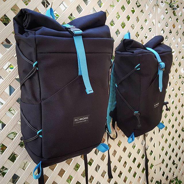 Big bro + little bro.  #everydaycarry #backpack #daypack #edc #custommade #handmade #travelpack #travelgear