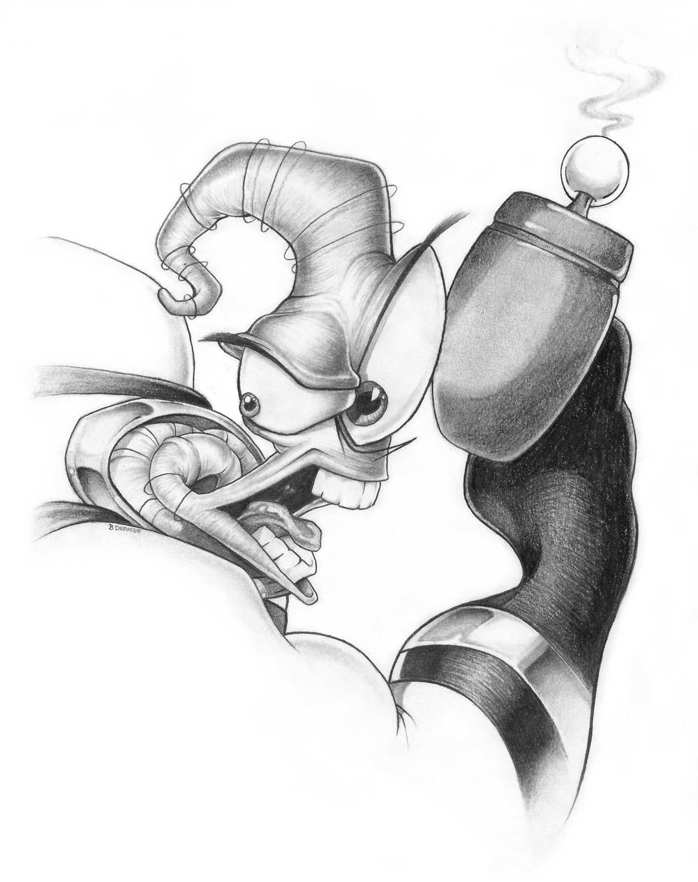 Earthworm-Jim-Drawing_Brent-DePaepe_Red_Zipper_Design.jpg