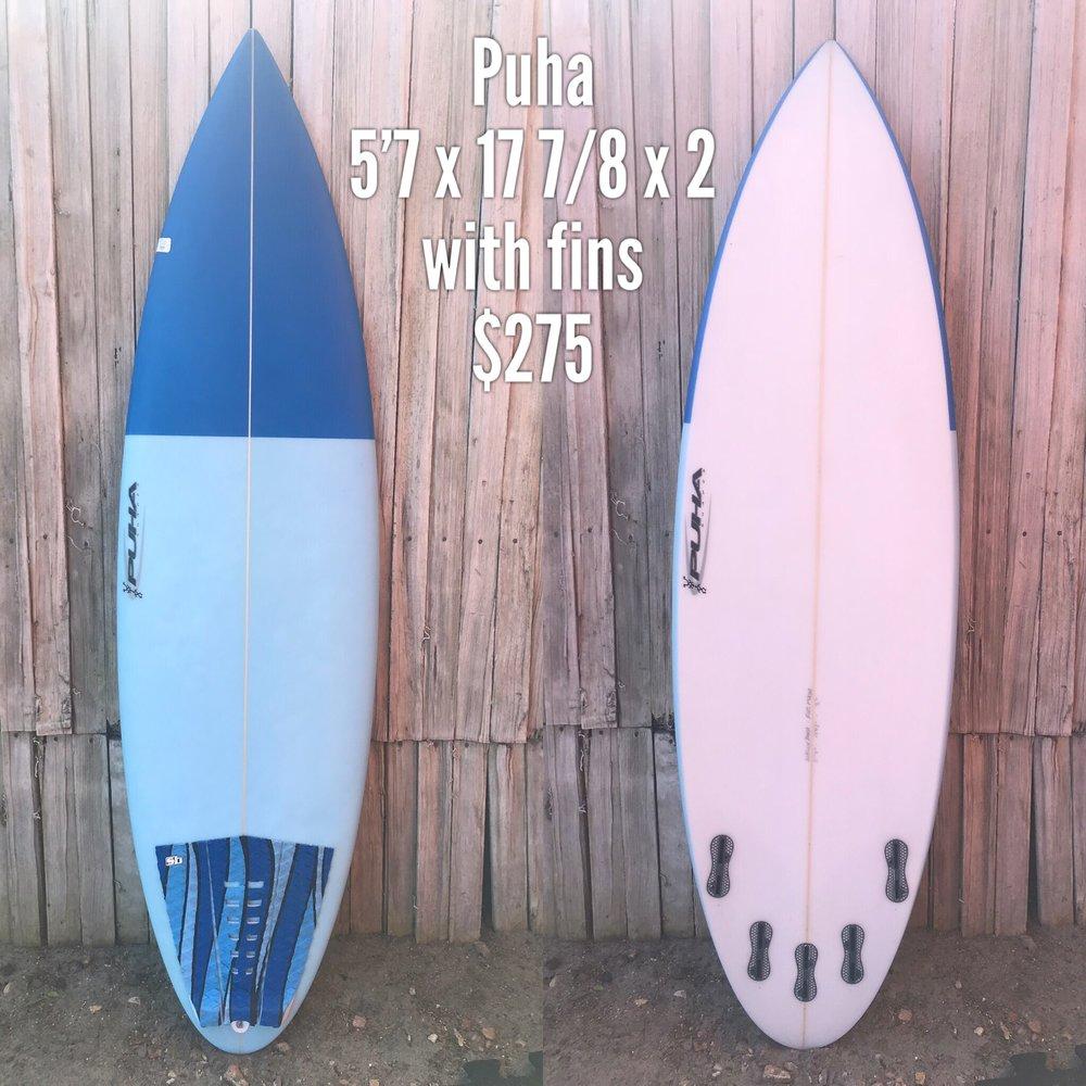 5'7 Puha Surfboard