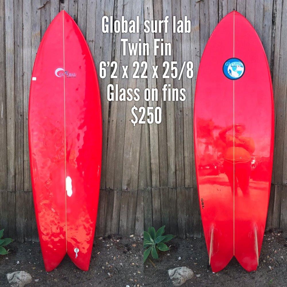 6'2 Global Surf Lab Twin Fin