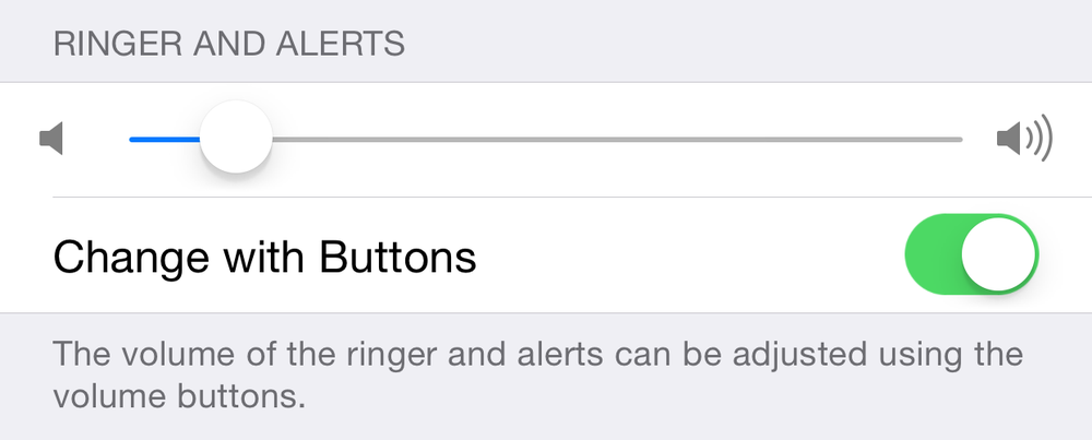 Go to Settings>Sounds>Ringer and Alerts